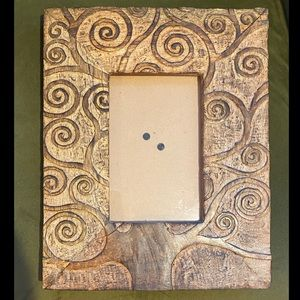 Carved Wood Tree of Life Picture Frame